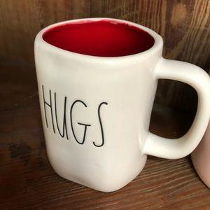 Rae Dunn Hugs/Kisses double sided mug